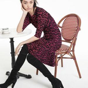 Milly Dresses - Milly Leopard Animal Print Mermaid Midi Dress